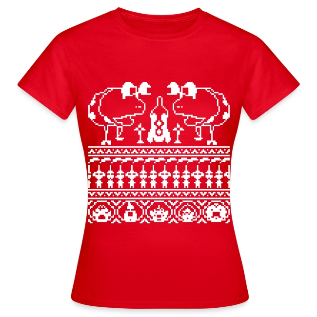 Women's Ugly Pikmin Christmas T-Shirt
