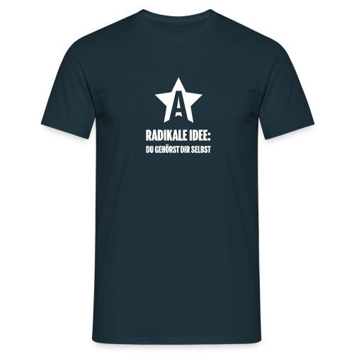 Anarchonauten: Radikale Idee - Männer T-Shirt