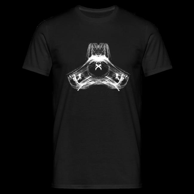 Männer T-Shirt Hund Weiß