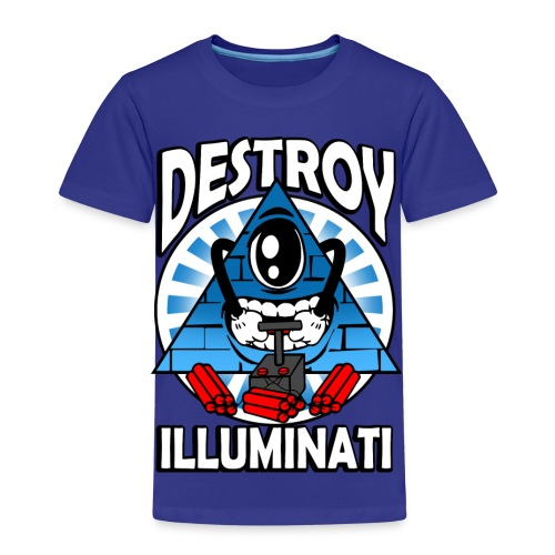 Destroy The Illuminati - Anti New World Order - Kids' Premium T-Shirt