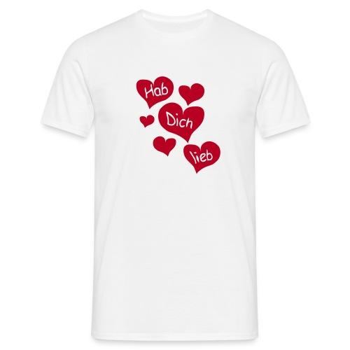 Hab Dich Lieb Tshirt - Männer T-Shirt