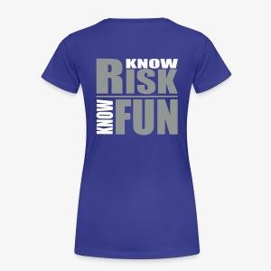 know risk / know fun - green (women) - Frauen Premium T-Shirt