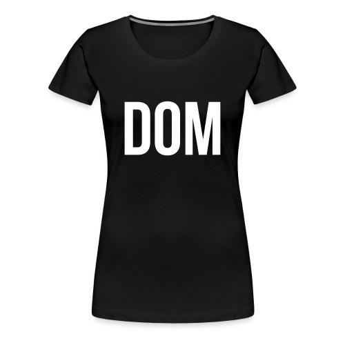 DOM(Svart/vit) - Premium-T-shirt dam