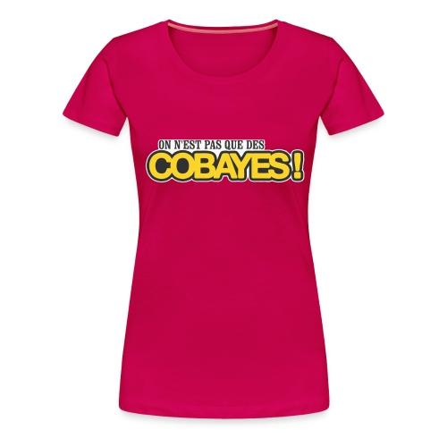 T-Shirt Femme Qualité Logo Cobayes - T-shirt Premium Femme