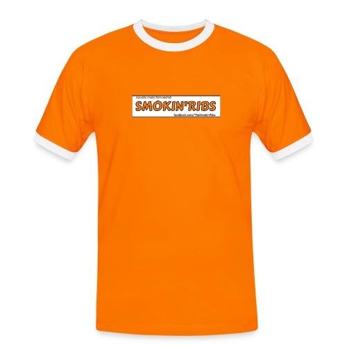Shirt mit Bünden, Orange Letters  - Männer Kontrast-T-Shirt