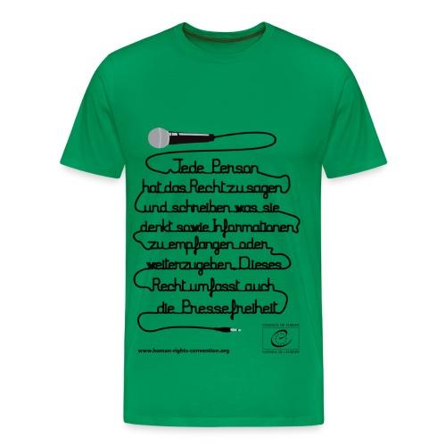 Freiheit der Meinungsäußerung - Männer Premium T-Shirt