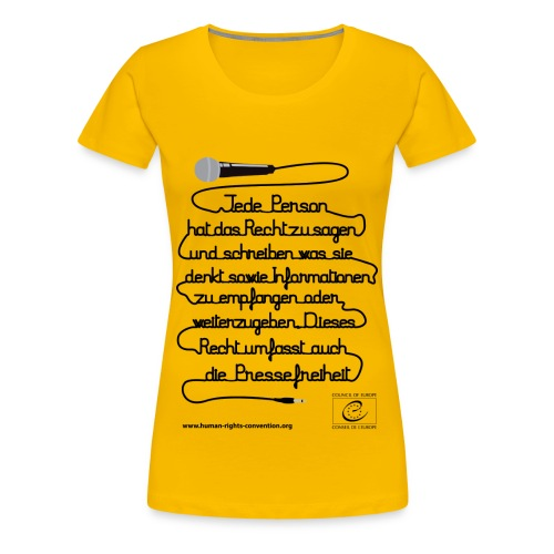 Freiheit der Meinungsäußerung - Frauen Premium T-Shirt