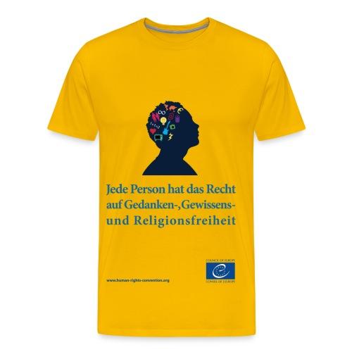 Gedanken, Gewissensund Religionsfreiheit - Männer Premium T-Shirt