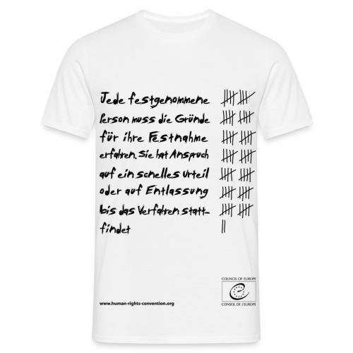 Recht auf Freiheit und Sicherheit - Männer T-Shirt