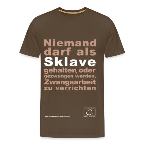 Verbot der Sklaverei und Zwangsarbeit - Männer Premium T-Shirt
