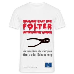 Verbot der Folter - Männer T-Shirt