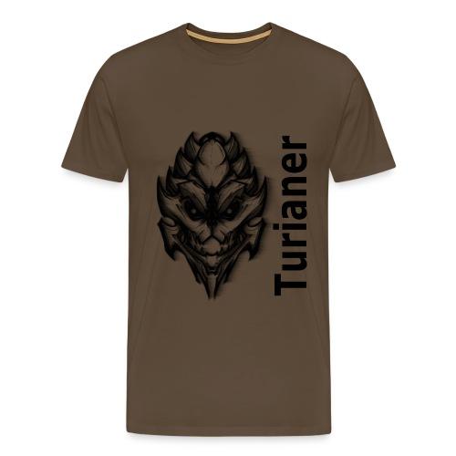 Männer Premium T-Shirt - Achtung! Dieses T-Shirt verwendet die hochskalierte Form des Turianer-Logos! Für die Qualität des Endergebnisses können wir nicht garantieren.