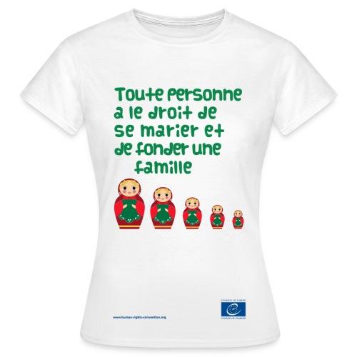 Droit au mariage - T-shirt Femme