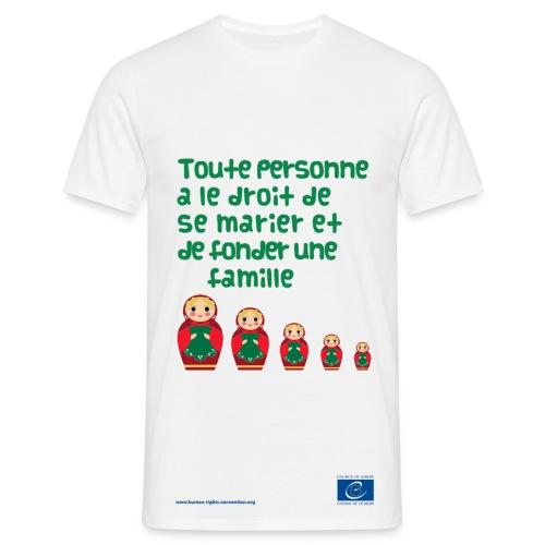 Droit au mariage - T-shirt Homme