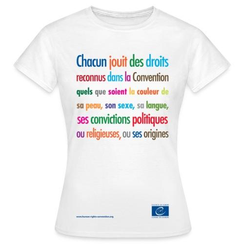 Interdiction de la discrimination - T-shirt Femme