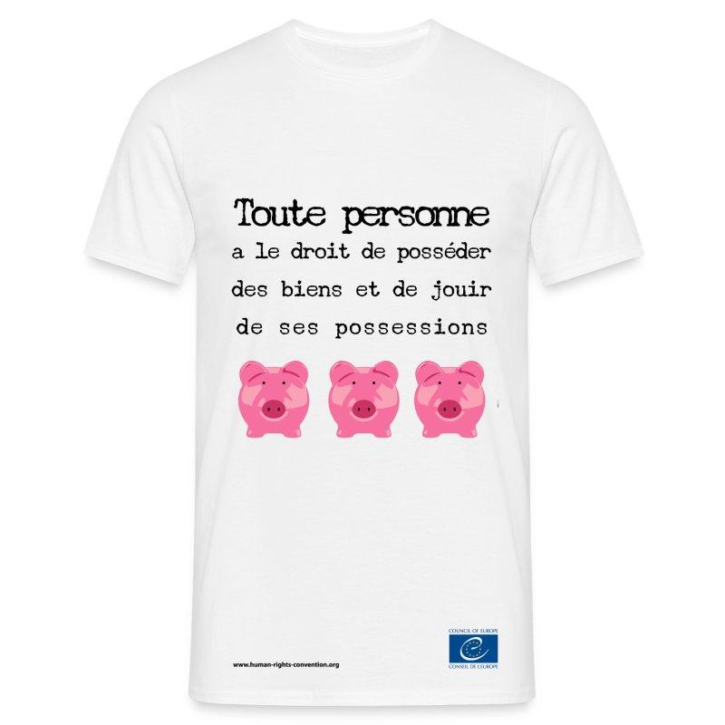 Droit à la protection des biens - T-shirt Homme
