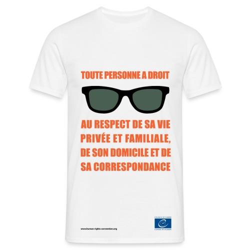 Droit au respect de la vie privée - T-shirt Homme