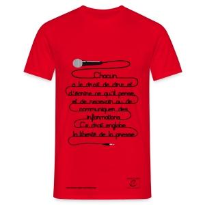 Droit à la liberté d'expression - T-shirt Homme