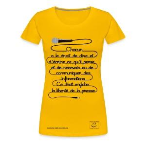 Droit à la liberté d'expression - T-shirt Premium Femme