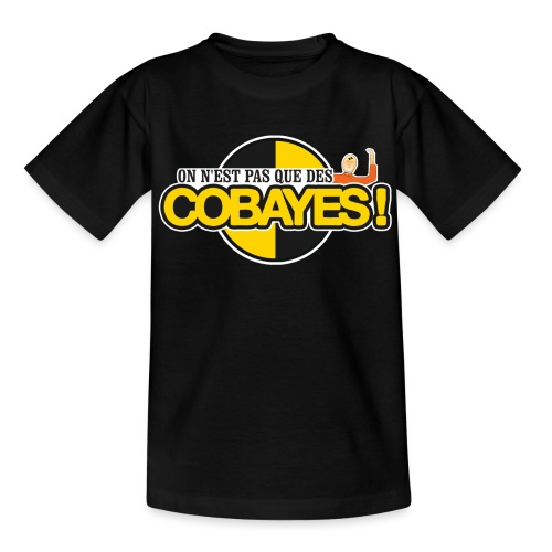 T-shirt Ados Basic Logo Cobayes James - T-shirt Ado