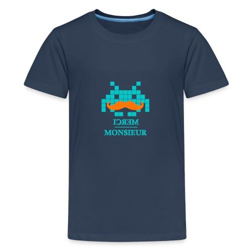 Monsieur est un geek #Hipster - T-shirt Premium Ado