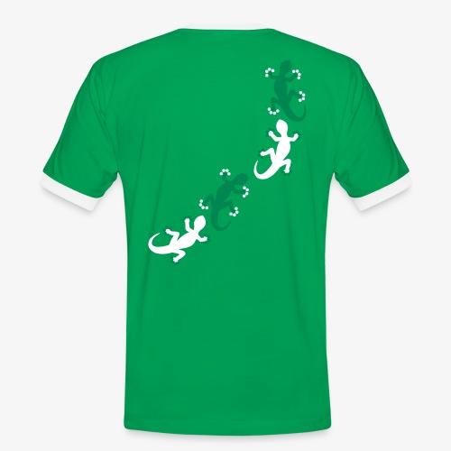 Acht Geckos (men) - Männer Kontrast-T-Shirt