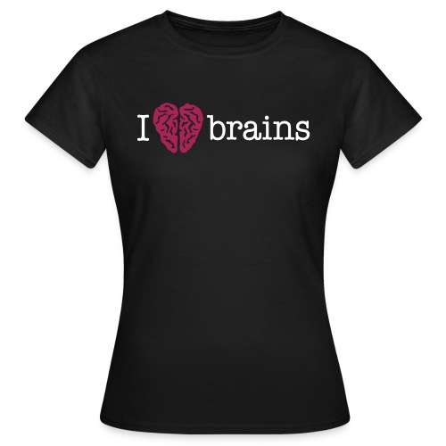 YellowIbis.com 'Medical One Liners' Women's Classic T-Shirt: I love brains (Black) - Women's T-Shirt