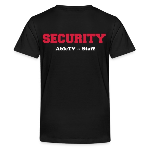AbleTV Fan Shirt Security Staff - Teenager Premium T-Shirt