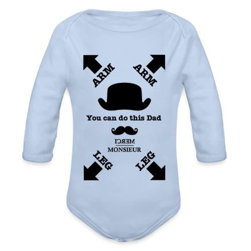 Monsieur est papa #Baby  - Body bébé bio manches longues