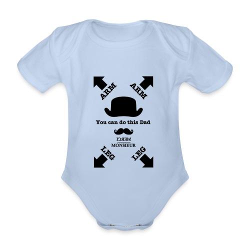 Monsieur est papa #Baby  - Body bébé bio manches courtes