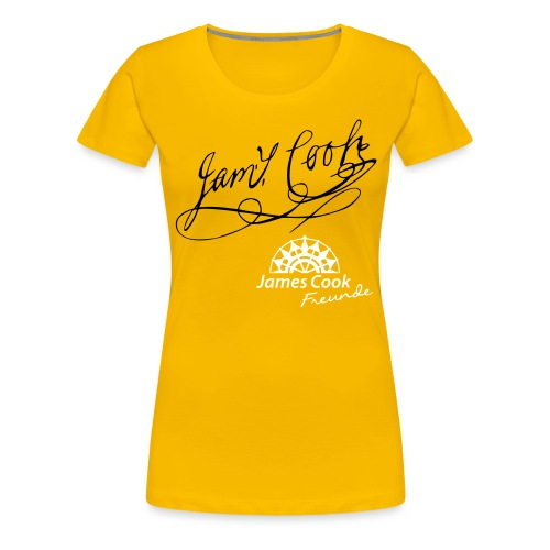 JCF Damen Shirt Unterschrift James Cook - Frauen Premium T-Shirt