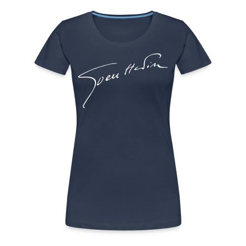Damen-Shirt Unterschrift Sven Hedin - Frauen Premium T-Shirt