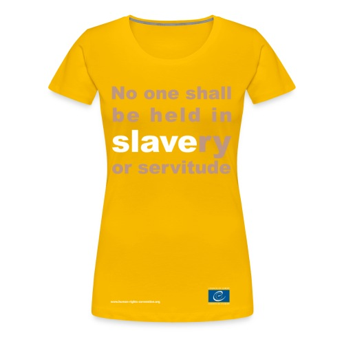Prohibition of slavery and forced labour - Women's Premium T-Shirt