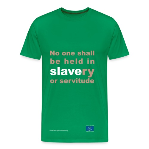 Prohibition of slavery and forced labour - Men's Premium T-Shirt