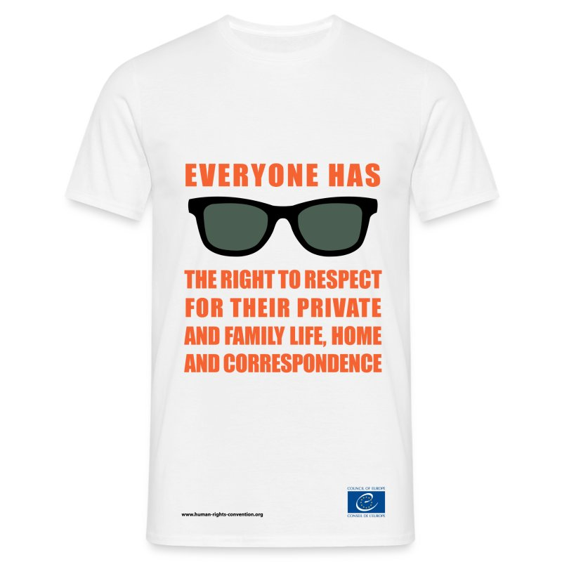The right to respect for private and family life - Men's T-Shirt