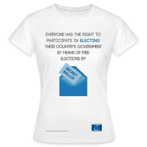 Right to free elections - Women's T-Shirt