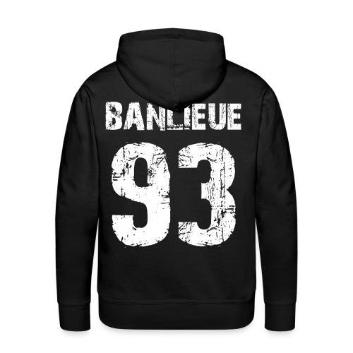 banlieue 93  - Sweat-shirt à capuche Premium pour hommes