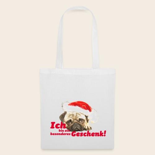 Mops Geschenk Stofftasche - Stoffbeutel