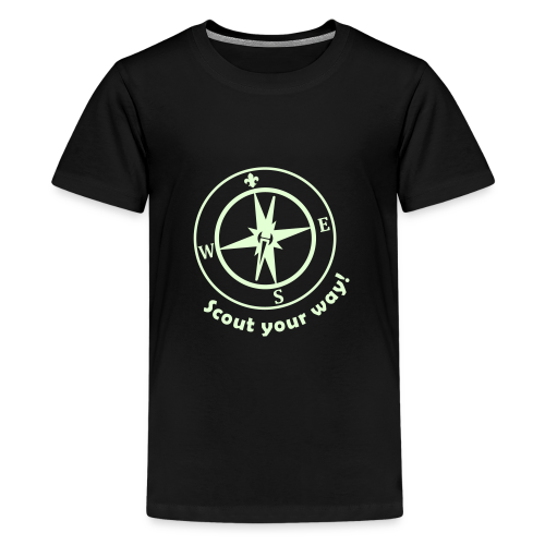 Scout your way - glowing - Teenage Premium T-Shirt