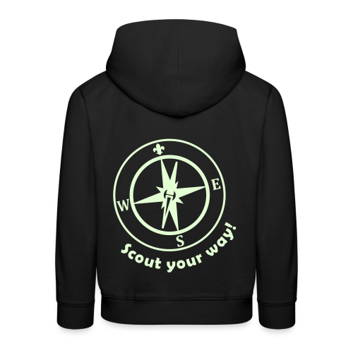 Scout your Way! - Hoody Kids, glowing - Kids' Premium Hoodie