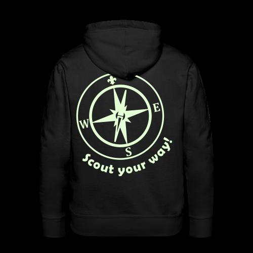 Scout your way! - Hoody, glowing - Men's Premium Hoodie