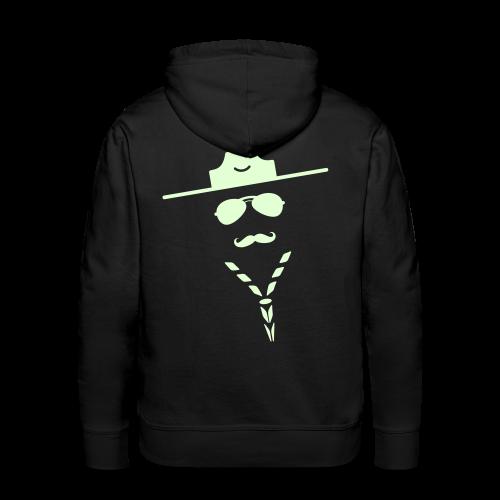 Moustache - hoody, glowing - Men's Premium Hoodie