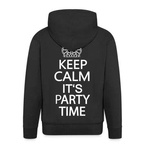Veste à capuche Premium Homme - sport,smiley,rave,musique,jumpstyle,hardstyle,danse,cool,club,amour