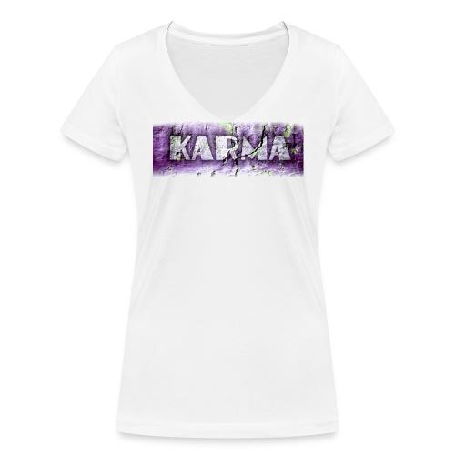 White Karma - Ekologisk T-shirt med V-ringning dam från Stanley & Stella