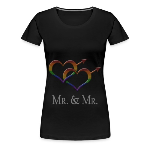 Mr. and Mr. - Gay Pride - Marriage Equality - Women's Premium T-Shirt