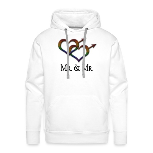 Mr. and Mr. - Gay Pride - Marriage Equality - Men's Premium Hoodie