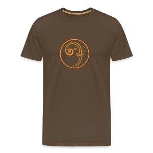 Bass-Elefant-shirt-braun - Männer Premium T-Shirt