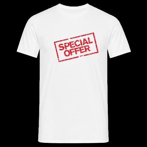 Special Offer T-Shirt (Herren Weiß Rot) - Männer T-Shirt