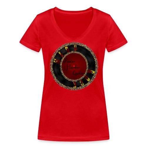 MusaGenret - Stanley & Stellan naisten v-aukkoinen luomu-T-paita