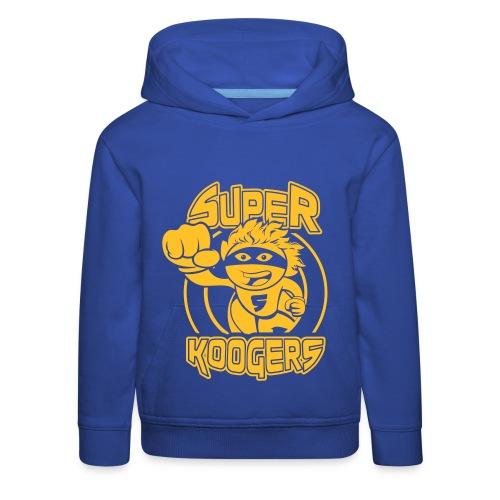 Sweater blauw - Kinderen trui Premium met capuchon